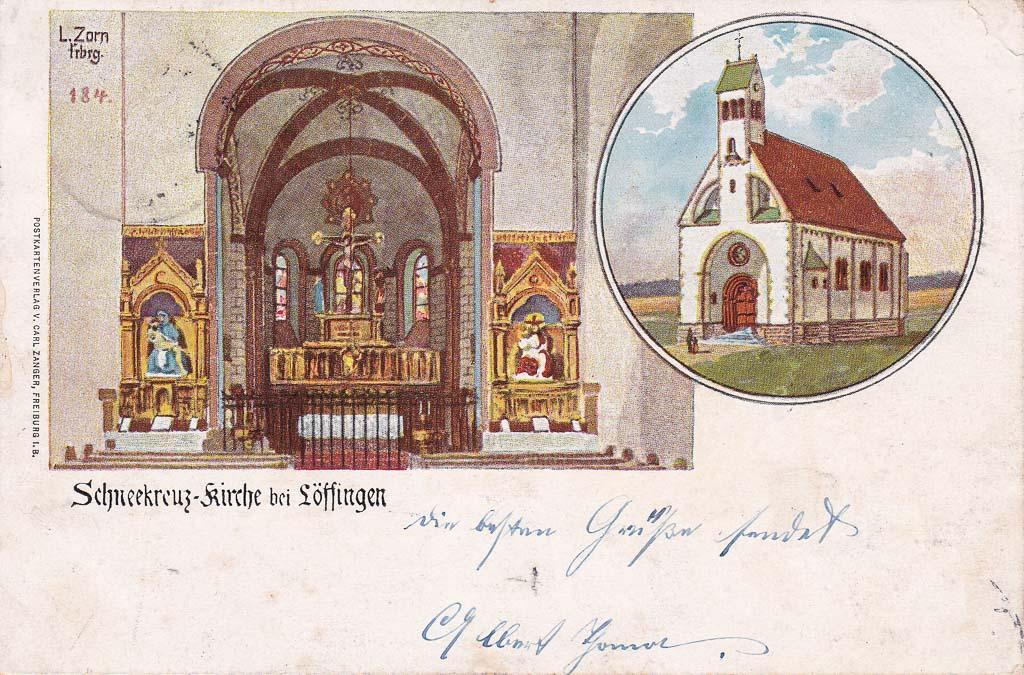 Mehrbildkarte mit zwei Ansichten vom Witterschneekreuz, ca. 1898