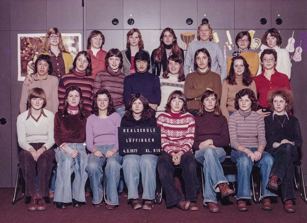10. Klasse der Realschule, März 1977