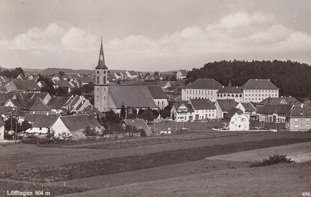 Blick von der »Breiten« auf das Städtchen, 1936