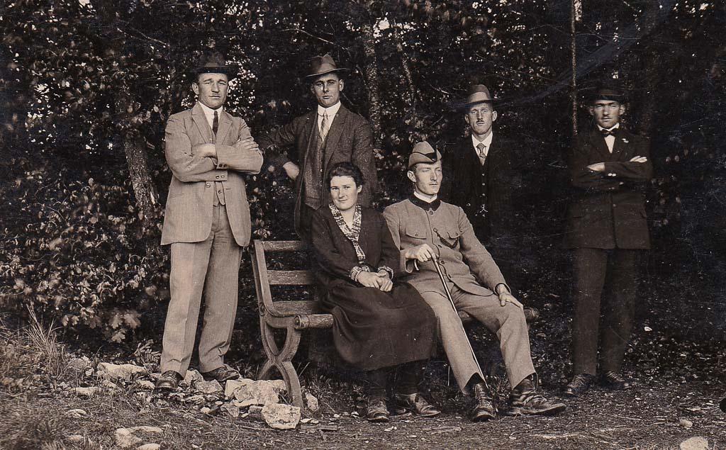 Personengruppe in der »Hasle«, ca. 1930-1933