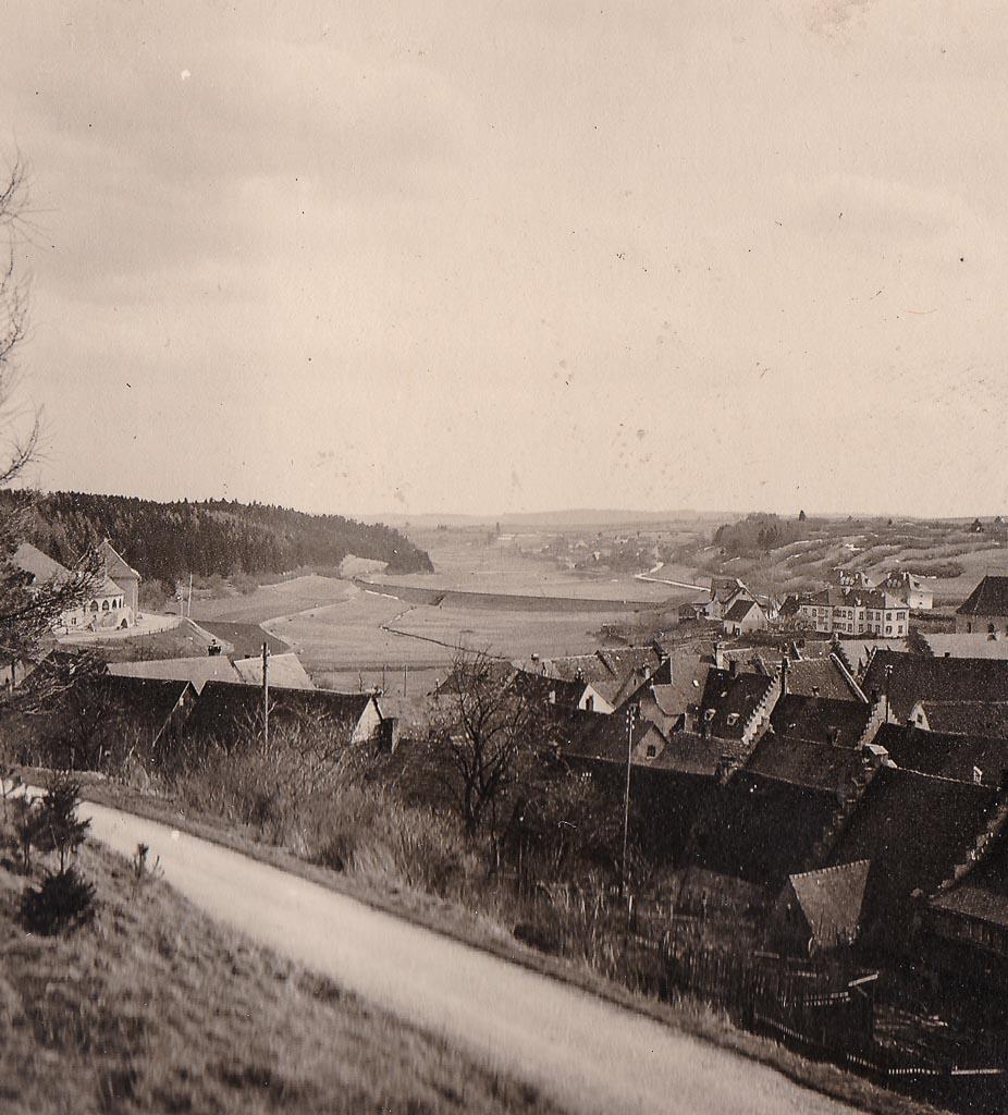 Blick vom Kurpark zum Städtchen, ca. 1940