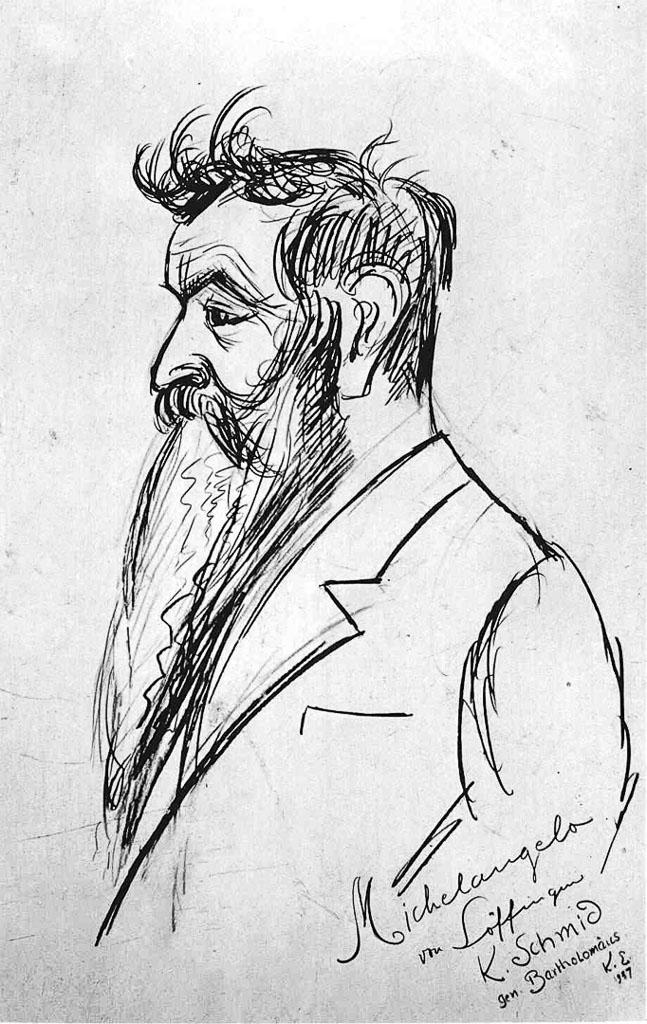 Porträt von Karl Schmid im Profil, 1947