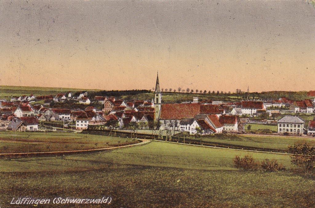 Blick vom Reichberg auf das Städtchen, ca. 1910