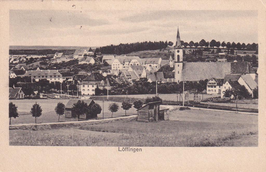 Blick vom Reichberg auf das Städtchen, ca. 1923