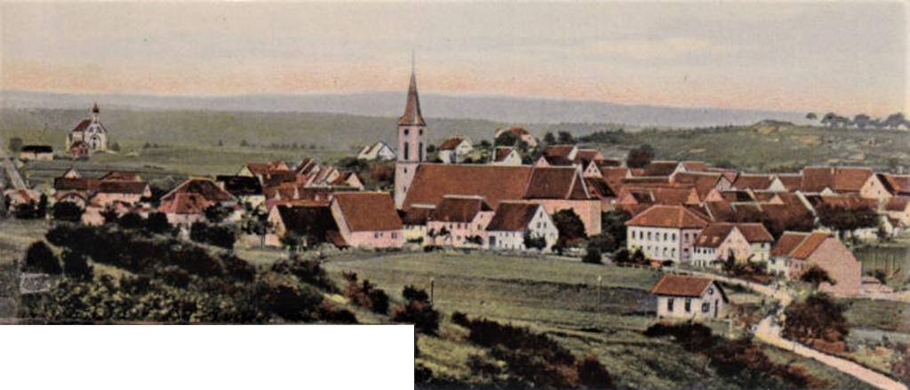 Ausschnitt: Blick vom Reichberg auf das Städtchen, 1906