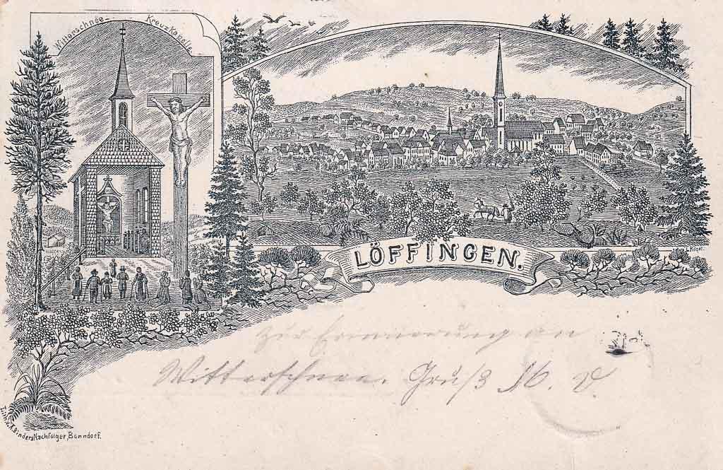 Mehrbildkarte mit Witterschneekapelle und Gesamtansicht, ca. 1892-1897
