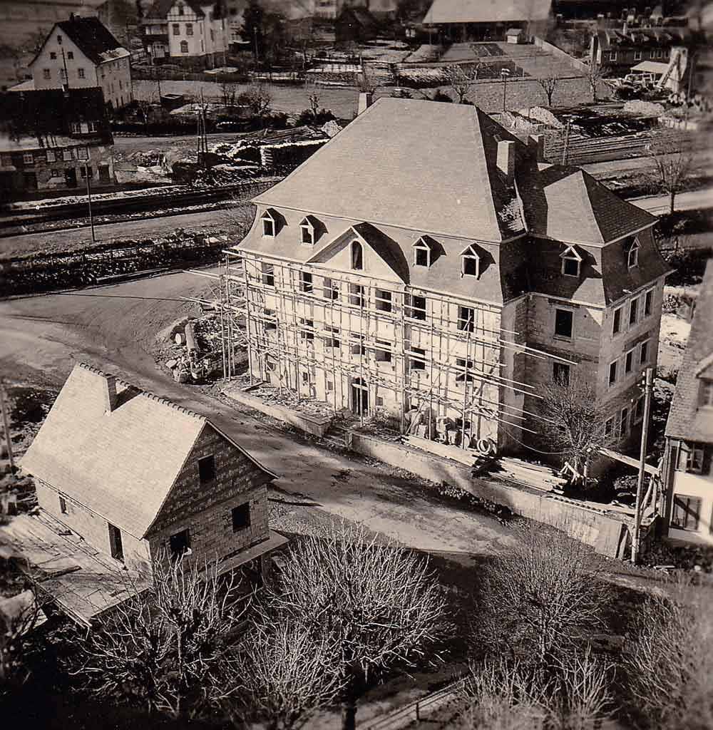 Renovierung des ehemaligen Pfarrhauses, ca. 1952
