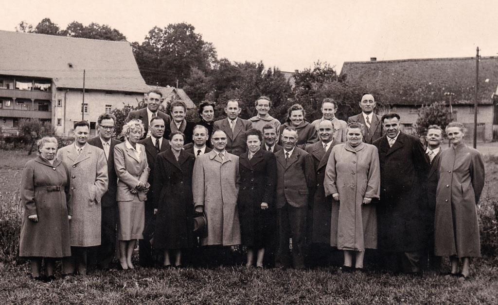 Klassentreffen des Jahrgangs 1906/07, ca. 1956/57