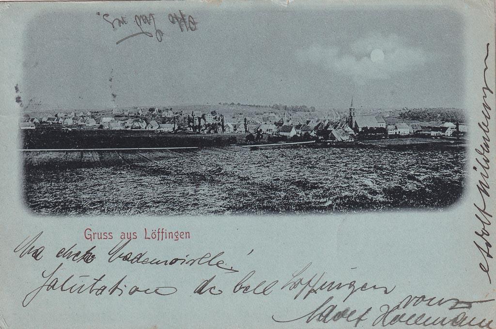 Mondscheinkarte mit Blick von der »Breiten«, ca. 1899