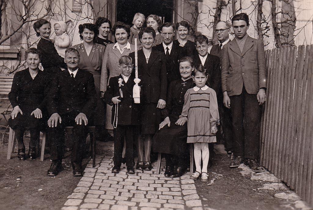 Kommunionkind Willi Fehrenbach, 1950