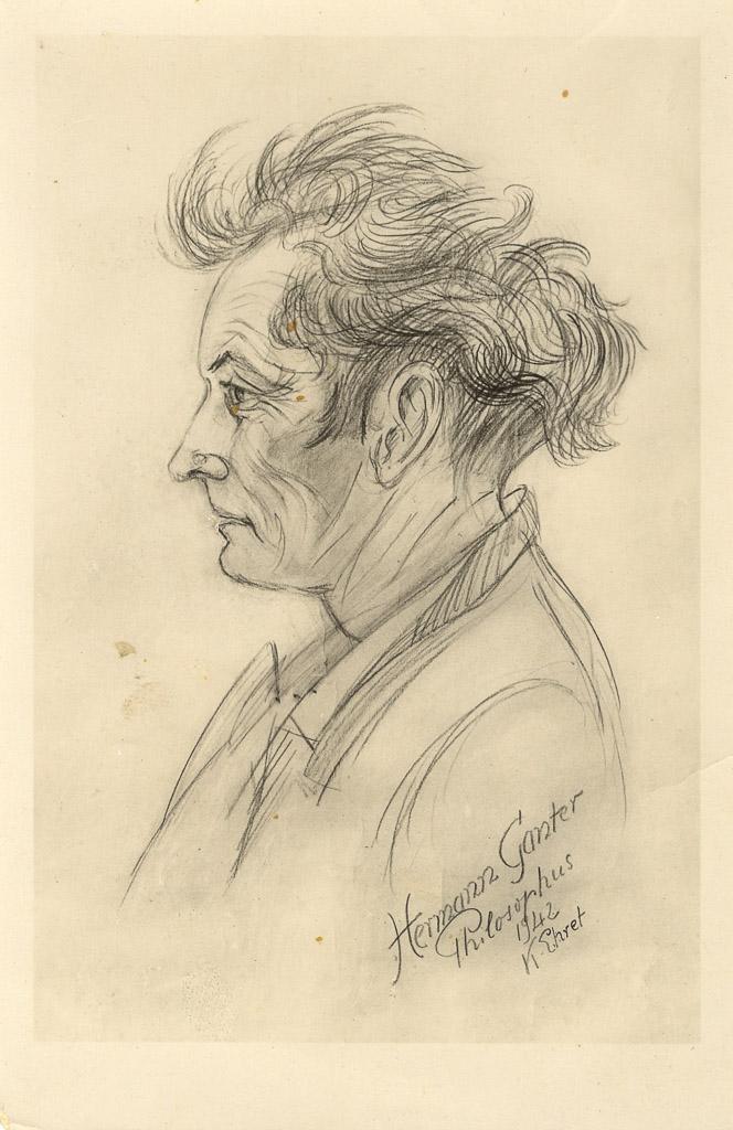 Porträt von Hermann Ganter, 1942
