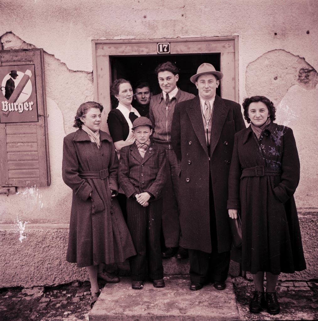 Geschwister Meßmer mit Freunden, ca. 1950